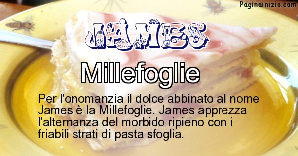 James - Dolce associato al nome James