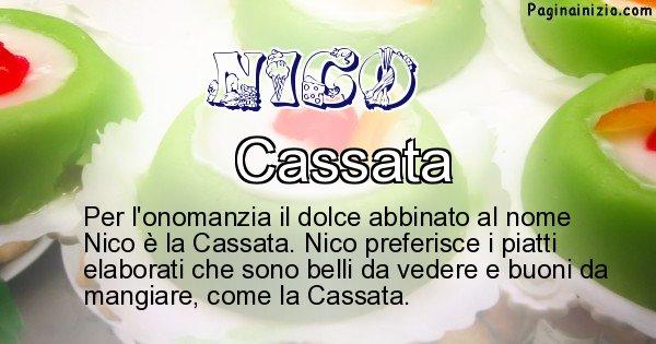 Nico - Dolce associato al nome Nico