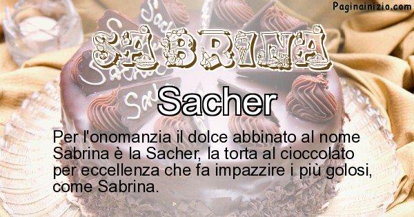 Sabrina - Dolce associato al nome Sabrina