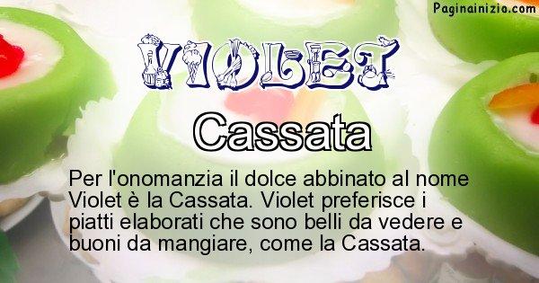 Violet - Dolce associato al nome Violet
