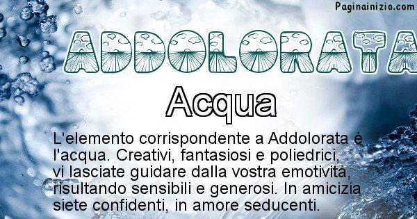 Addolorata - Elemento naturale per Addolorata