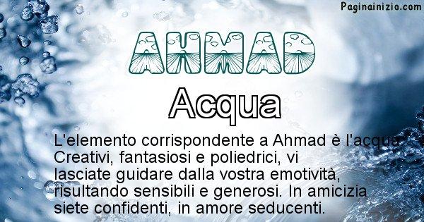 Ahmad - Elemento naturale per Ahmad