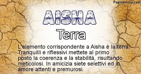 Aisha - Elemento naturale per Aisha