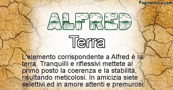 Alfred - Elemento naturale per Alfred