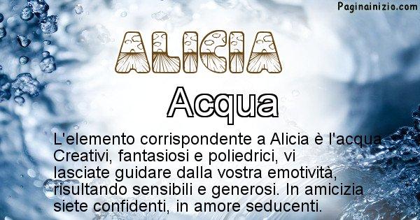 Alicia - Elemento naturale per Alicia