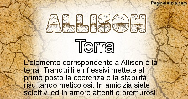 Allison - Elemento naturale per Allison