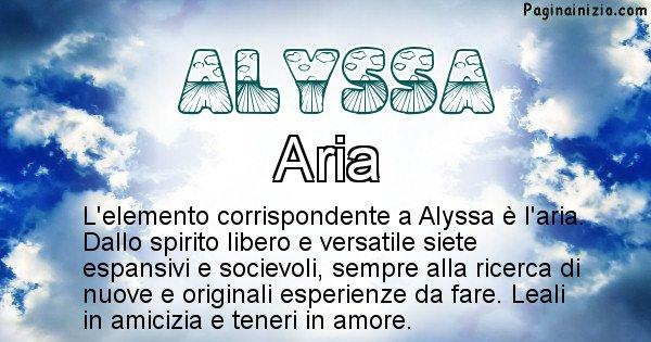 Alyssa - Elemento naturale per Alyssa