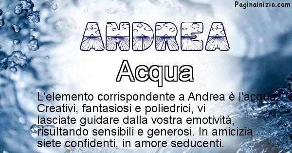 Andrea - Elemento naturale per Andrea