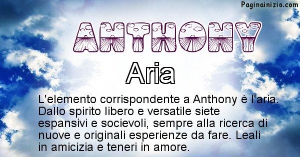 Anthony - Elemento naturale per Anthony