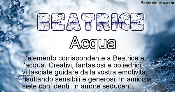 Beatrice - Elemento naturale per Beatrice