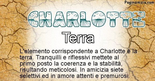 Charlotte - Elemento naturale per Charlotte