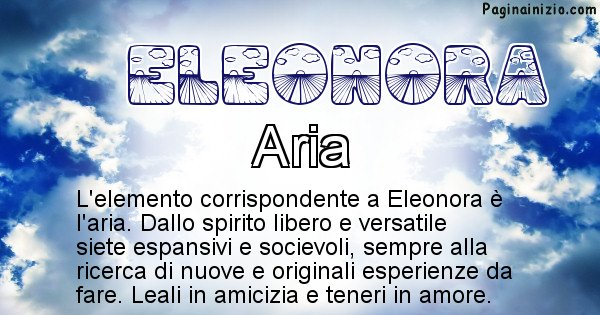 Eleonora - Elemento naturale per Eleonora