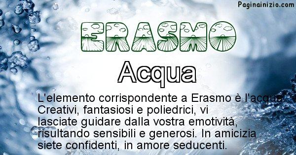 Erasmo - Elemento naturale per Erasmo