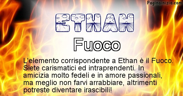Ethan - Elemento naturale per Ethan