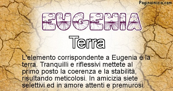 Eugenia - Elemento naturale per Eugenia