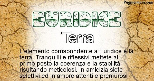 Euridice - Elemento naturale per Euridice