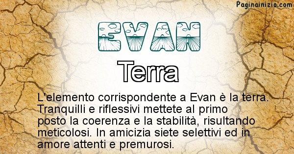 Evan - Elemento naturale per Evan