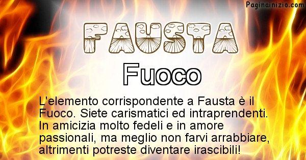 Fausta - Elemento naturale per Fausta