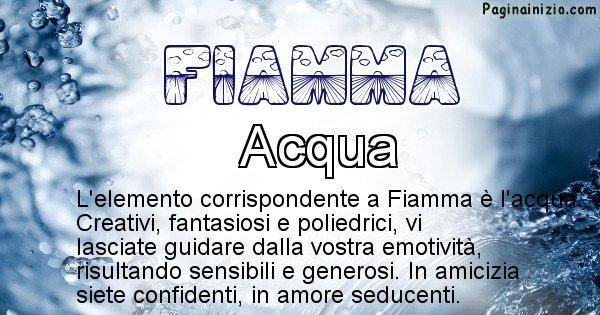 Fiamma - Elemento naturale per Fiamma