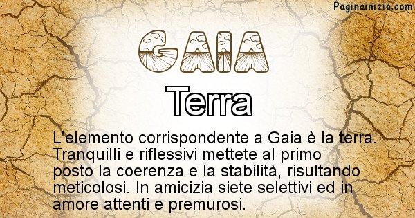 Gaia - Elemento naturale per Gaia