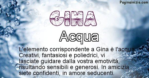 Gina - Elemento naturale per Gina