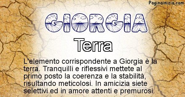 Giorgia - Elemento naturale per Giorgia