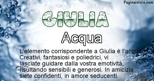 Giulia - Elemento naturale per Giulia