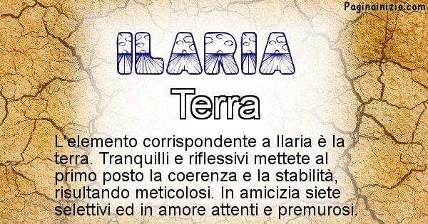Ilaria - Elemento naturale per Ilaria