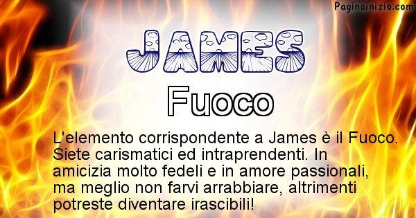 James - Elemento naturale per James
