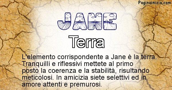 Jane - Elemento naturale per Jane