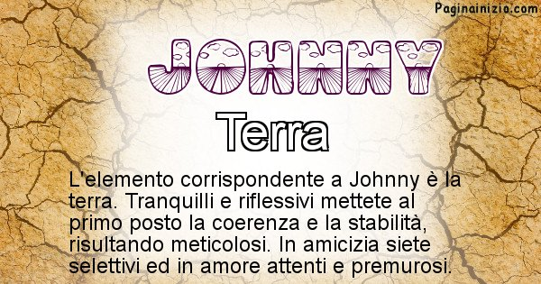 Johnny - Elemento naturale per Johnny