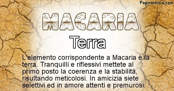 Macaria - Elemento naturale per Macaria