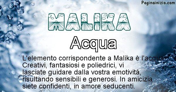 Malika - Elemento naturale per Malika