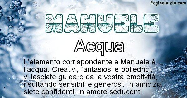 Manuele - Elemento naturale per Manuele
