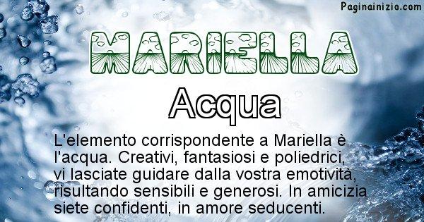 Mariella - Elemento naturale per Mariella