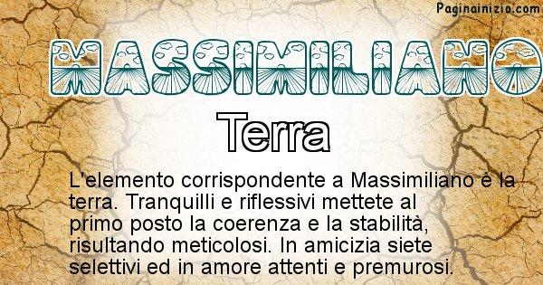 Massimiliano - Elemento naturale per Massimiliano