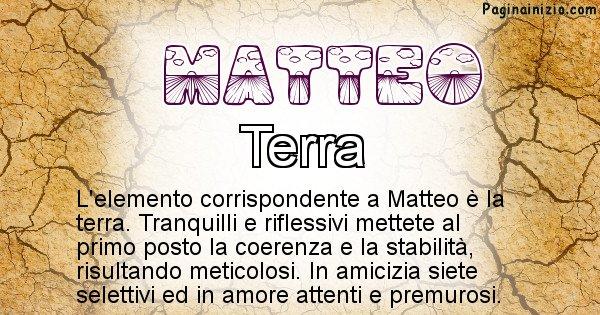 Matteo - Elemento naturale per Matteo