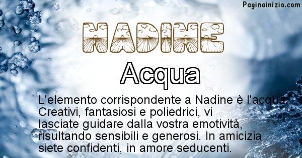 Nadine - Elemento naturale per Nadine
