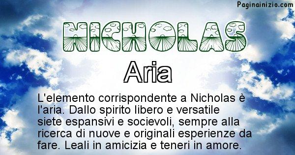 Nicholas - Elemento naturale per Nicholas