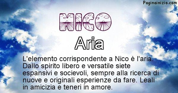 Nico - Elemento naturale per Nico