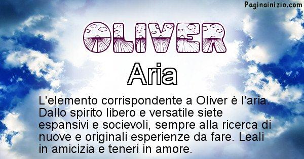 Oliver - Elemento naturale per Oliver