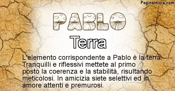 Pablo - Elemento naturale per Pablo