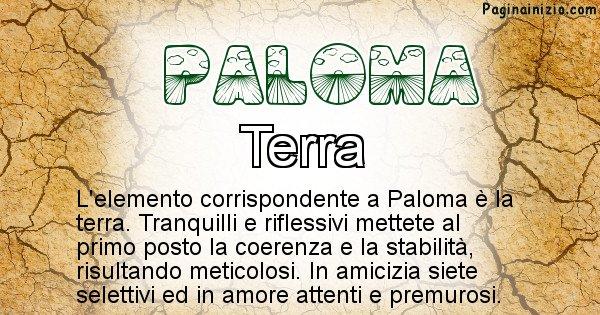 Paloma - Elemento naturale per Paloma