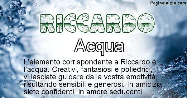 Riccardo - Elemento naturale per Riccardo