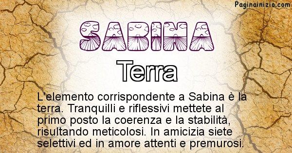Sabina - Elemento naturale per Sabina