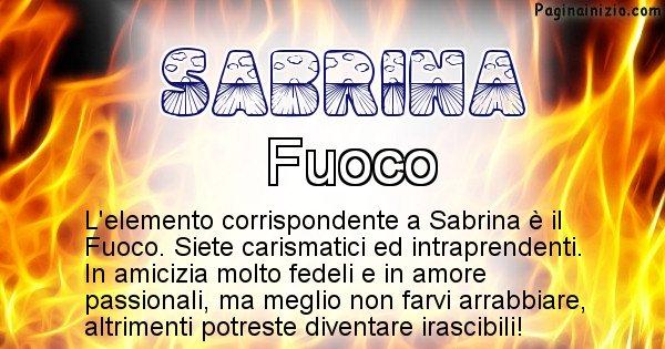 Sabrina - Elemento naturale per Sabrina