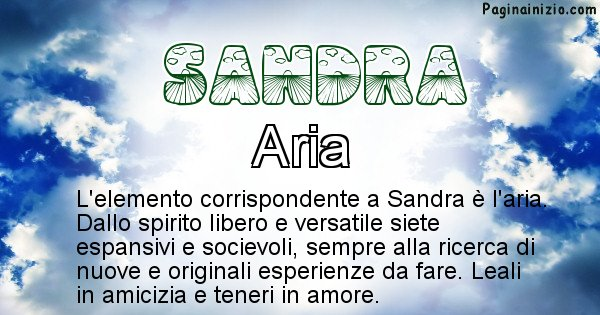 Sandra - Elemento naturale per Sandra