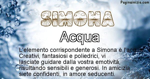 Simona - Elemento naturale per Simona