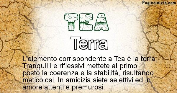 Tea - Elemento naturale per Tea