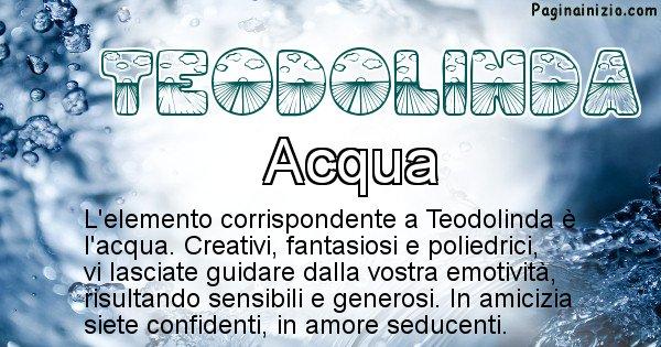 Teodolinda - Elemento naturale per Teodolinda